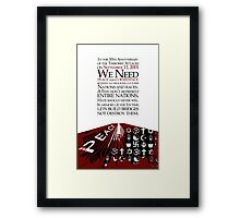 911  10th Anniversary Message Framed Print