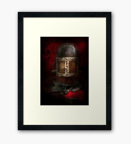 Fireman - The Mask Framed Print