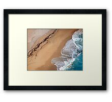 Lick the sand Framed Print