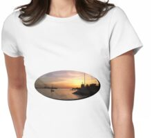 Sunset in Lisbon Womens Fitted T-Shirt