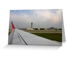 On The Runway By Jonathan Green Greeting Card
