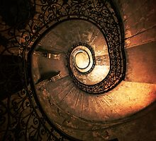 Ornamented spiral staircase in brown tones by JBlaminsky