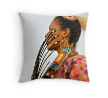 Feathers Grace the Face Throw Pillow