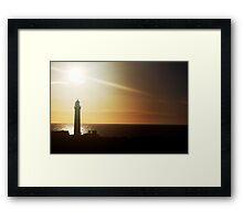 Sunrise over Peterhead light house (scotland) Framed Print