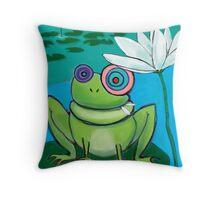 Freaky Full Froggy Throw Pillow