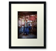 Laundry - Miss Lady Blue  Framed Print