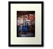 Laundry - Miss Lady Blue  Framed Print