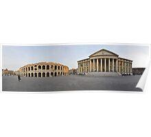 Verona - Piazza Bra` panorama Poster