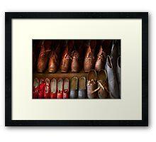 Shoemaker - Shoes worn in life Framed Print