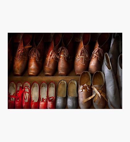 Shoemaker - Shoes worn in life Photographic Print