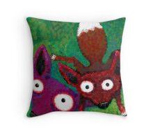 Fox Fur is Evil! Throw Pillow