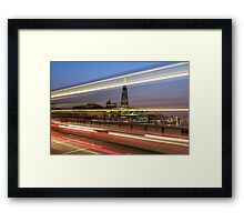 The shard London at night Framed Print