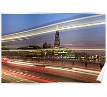 The shard London at night Poster