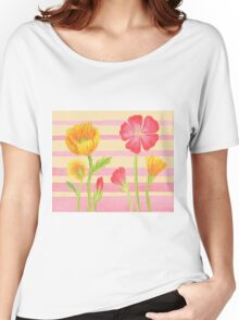 Happy Flower Bed Women's Relaxed Fit T-Shirt