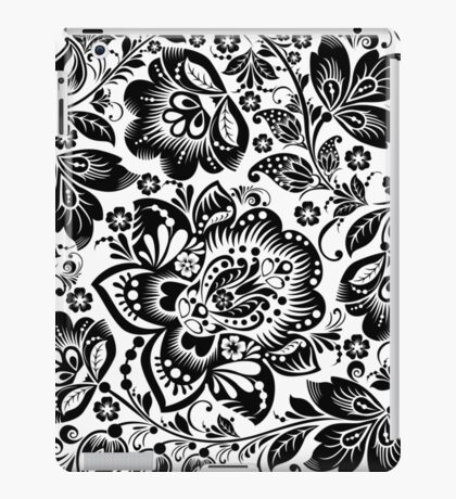 Black and white baroque Floral Seamless Pattern iPad Case/Skin