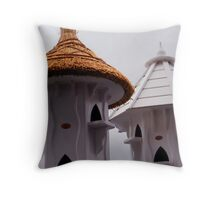 Devilish Dovecotes Throw Pillow