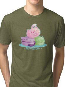 Cute Kitty Cat Macarons Tri-blend T-Shirt