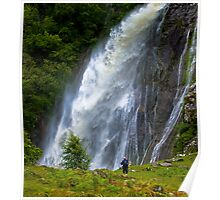 The Aber Falls in Wales Poster