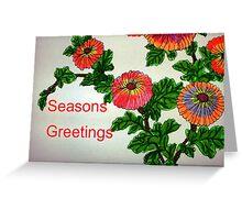 Chrysanthemum Greetings Greeting Card