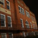 abandoned elementary school at night by ashley hutchinson