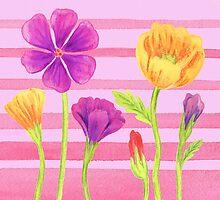 Happy Flowers In The Garden by Irina Sztukowski
