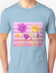 Happy Flowers In The Garden Unisex T-Shirt