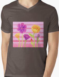 Happy Flowers In The Garden Mens V-Neck T-Shirt