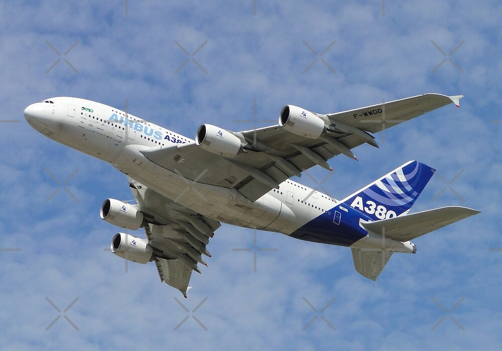 Airbus A380 F-WWDD by Barrie Woodward
