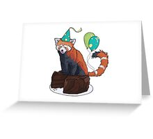Red Panda Party Greeting Card