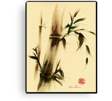 """Calm""  Sumi e bamboo painting Canvas Print"