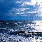 Blue Skies For A Change (Solway Firth) by Lou Wilson