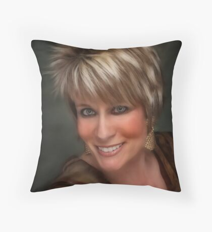 Beautifully Blond Throw Pillow