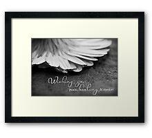 Peace, Healing & Comfort Framed Print