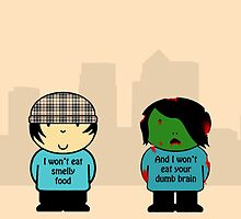 Chav & Zombie TFL Poster by rob0234