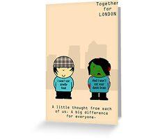 Chav & Zombie TFL Poster Greeting Card