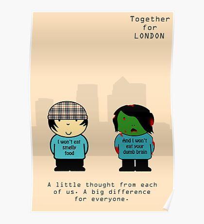 Chav & Zombie TFL Poster Poster