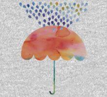 Rainbow Umbrella One Piece - Short Sleeve
