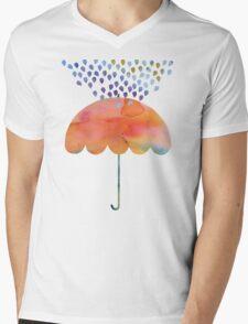 Rainbow Umbrella Mens V-Neck T-Shirt