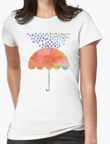 Rainbow Umbrella Womens Fitted T-Shirt
