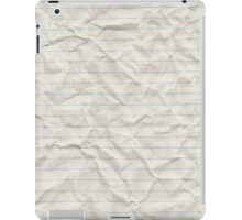 Crinkled lined paper iPad Case/Skin