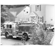 090111 030 0 water color fire engine gray scale Poster