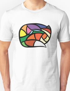 Digital Stained-Glass Fox Unisex T-Shirt