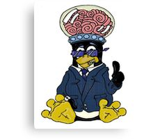 Brainy Tux Glass Dome Canvas Print