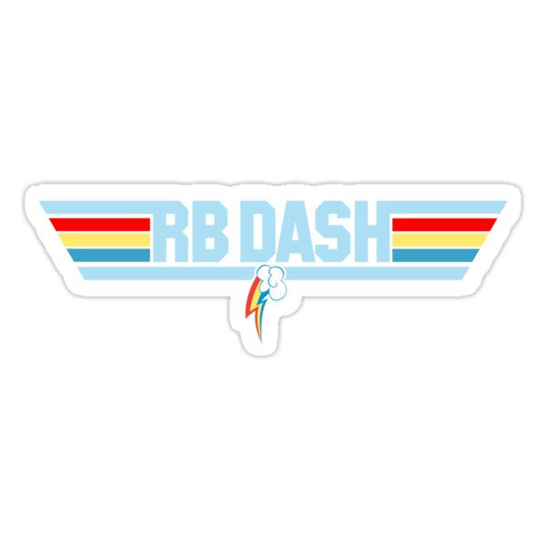 Rainbow Dash - Top Gun Logo by Strangetalk