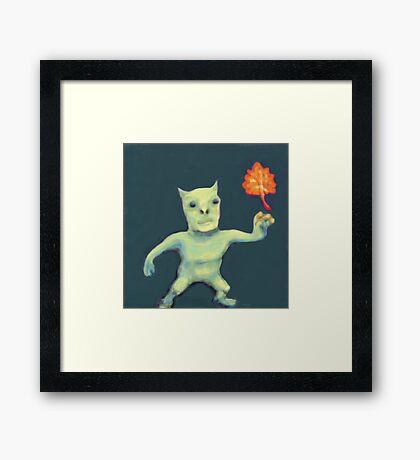 Leaf Daemon Framed Print