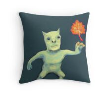 Leaf Daemon Throw Pillow