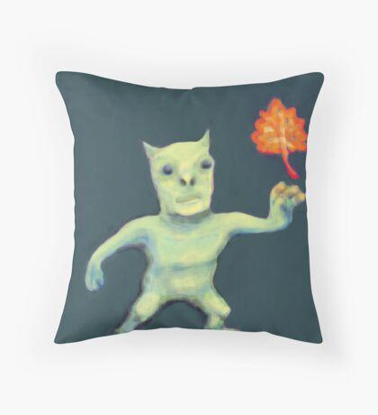 Leaf Daemon Throw Pillow