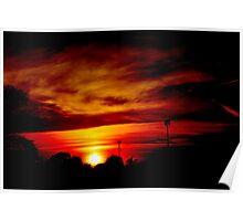 Fiery Sunrise Poster