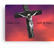 No Greater Love Canvas Print
