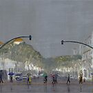 Umbrellas On Chapala by Peter Worsley